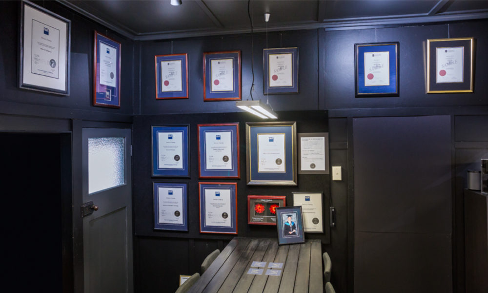 Certificate Framing - Matisse Framing